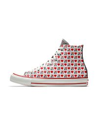 Converse - Red Custom I Love New York High Top Shoe for Men - Lyst