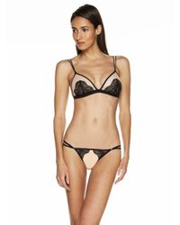 Cosabella - Natural Bisou Peacock G-string - Lyst