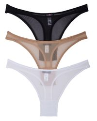 Cosabella - Black New Soire Sheer Hi-rise Thong Basic Pack - Lyst
