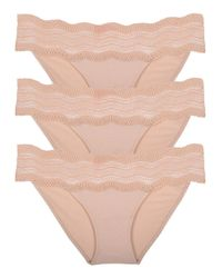 Cosabella - Natural Dolce Lowrider Bikini Basic Blush 3-pack - Lyst