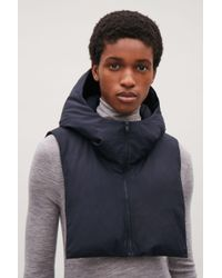 COS - Blue Padded Hood - Lyst