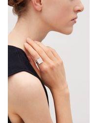COS - Metallic Semi-precious Stone Ring - Lyst