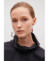 COS - Red Irregular Metal Earrings - Lyst