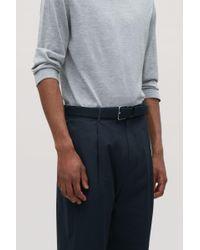 COS - Blue Textured Elastic Belt for Men - Lyst