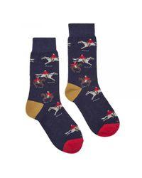 Joules | Blue Brilliant Bamboo Womens Socks (x) | Lyst