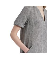 Great Plains - Gray Layla Linen Melange Womens Smock Dress - Lyst
