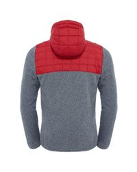 The North Face - Red Thermoball Gl Mens Hoodie for Men - Lyst