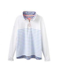 Joules - Blue Southwold Half Zip Ladies Sweatshirt (u) - Lyst