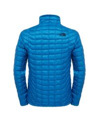 The North Face - Blue Thermoball Mens Full Zip Jacket for Men - Lyst