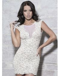 Baccio Couture - White Ines - Painted Short Dress - Lyst