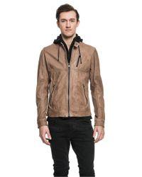 Lamarque | Brown Slayer Motorcycle Jacket In Espresso for Men | Lyst