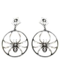 Irit Design | Metallic Sterling Silver And Diamond Hoops With Removable Spiders | Lyst