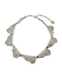 Ben-Amun | Metallic Geometric Crystal Necklace | Lyst