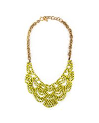 Elizabeth Cole | Taylor Necklace, Yellow | Lyst