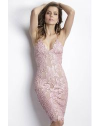 Baccio Couture | Pink Maluz Painted Caviar Rose Long Dress | Lyst