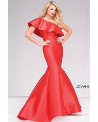 Jovani | Red One Shoulder Mermaid Prom Dress | Lyst