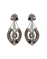 Deepa Gurnani | Metallic Wisteria Earrings | Lyst