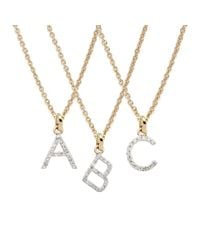 Rachael Ryen - Metallic Gold Petite Diamond Letter Necklace - All Letters Available - Lyst