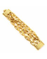 Ben-Amun - Metallic Twisted Gold Chain Link Bracelet - Lyst