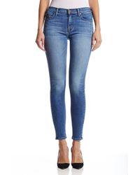 Hudson Jeans | Blue Wmdew Nico Mid-rise Super Skinny In Glider | Lyst