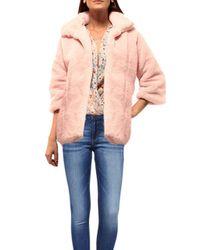 Johanne Beck | Pink Faux Fur Coat Blush | Lyst
