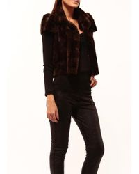 Johanne Beck | Brown Faux Fur Jacket Use Promo Code Fur For Additional % Off | Lyst