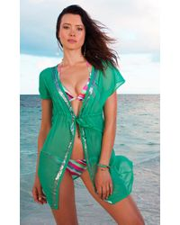 Voda Swim | Kelly Green Sequin Cover Up | Lyst
