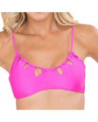Luli Fama - Pink Zig-zag Cut-out Bra In Too Hot Miami (l) - Lyst