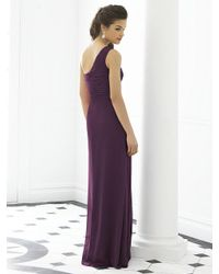 After Six - Purple Dress In Aubergine - Lyst