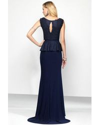 Alyce Paris | Blue Black Label - Long Evening Dress In Navy | Lyst