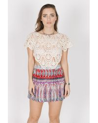 Raga - Purple Love Spell Mini Skirt - Lyst
