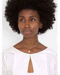 Mila Marin - Brown Amulet Mother Of Pearl Necklace - Lyst