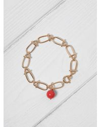Helena Rohner - Multicolor Link Bracelet With Stone Bead - Lyst