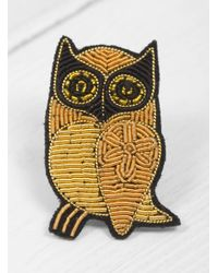 Macon & Lesquoy | Multicolor Owl Brooch | Lyst