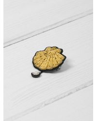 Macon & Lesquoy - Metallic Scallop Brooch - Lyst
