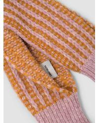 Rachel Comey - Multicolor Fuzzy Stripe Sleeve Scarf - Lyst