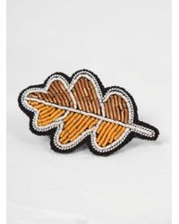 Macon & Lesquoy - Multicolor Oak Leaf Brooch - Lyst