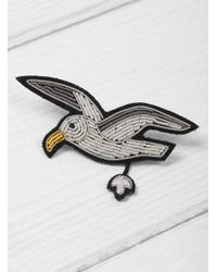 Macon & Lesquoy | Multicolor Flying Seagull Brooch | Lyst