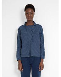 SIDELINE - Blue Edie Shirt Indigo Stripe - Lyst