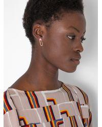 Odette New York - Brown Linq Earrings Brass - Lyst