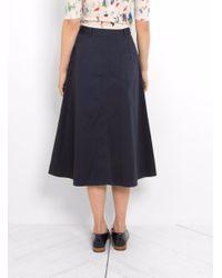YMC - Blue Sheila Skirt - Lyst