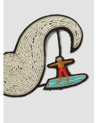 Macon & Lesquoy - Multicolor Surfer Brooch - Lyst