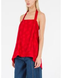 Creatures of Comfort - Red Pia Top Otomi Plisse - Lyst