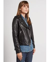 Current/Elliott | Black The Roadside Leather Jacket | Lyst