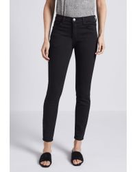 Current/Elliott Black The High Waist Stiletto Skinny Jean