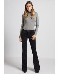 Current/Elliott | Black The Low Bell Flare Jean | Lyst
