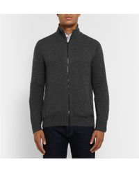Burberry - Gray Zip-Through Cashmere Sweater for Men - Lyst