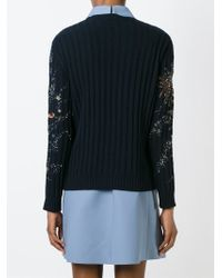 Valentino | Black 'cosmo' Sweater | Lyst