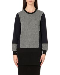 5cm | Gray Mesh-hem Jersey Sweatshirt | Lyst