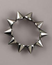Eddie Borgo | Gray Large Gunmetal Cone Bracelet | Lyst